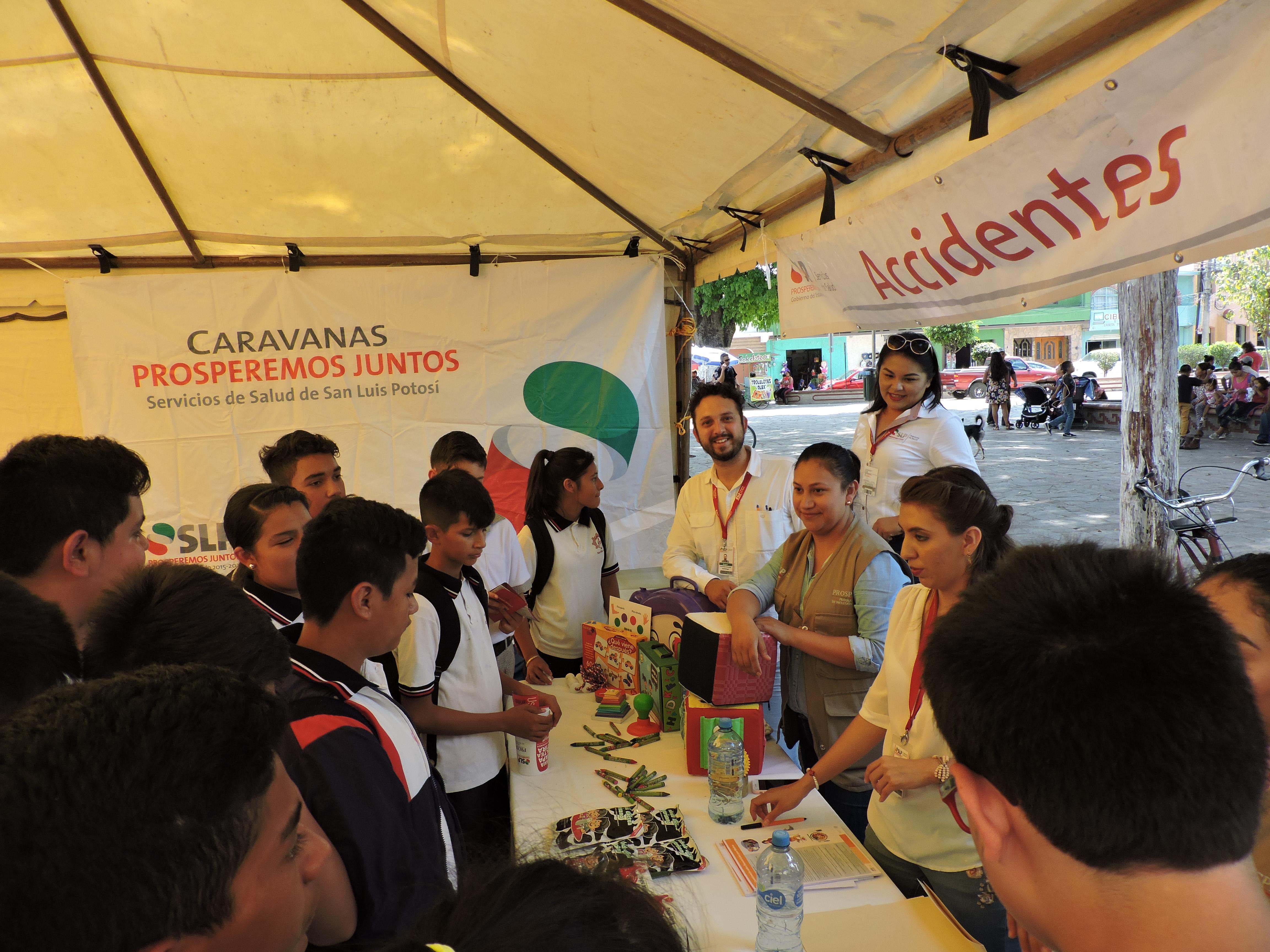 BRINDA LA SECRETARÍA DE SALUD ATENCIÓN A 112 MIL POTOSINOS A TRAVÉS DE LAS CARAVANAS PROSPEREMOS JUNTOS.