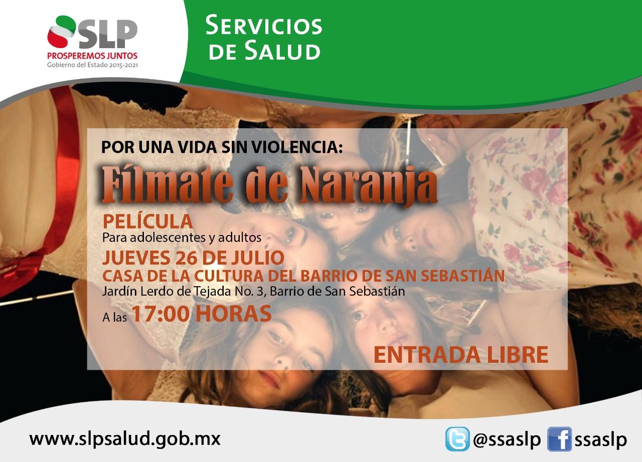 REACTIVA LA SECRETARÍA DE SALUD EL PROGRAMA FÍLMATE DE NARANJA.